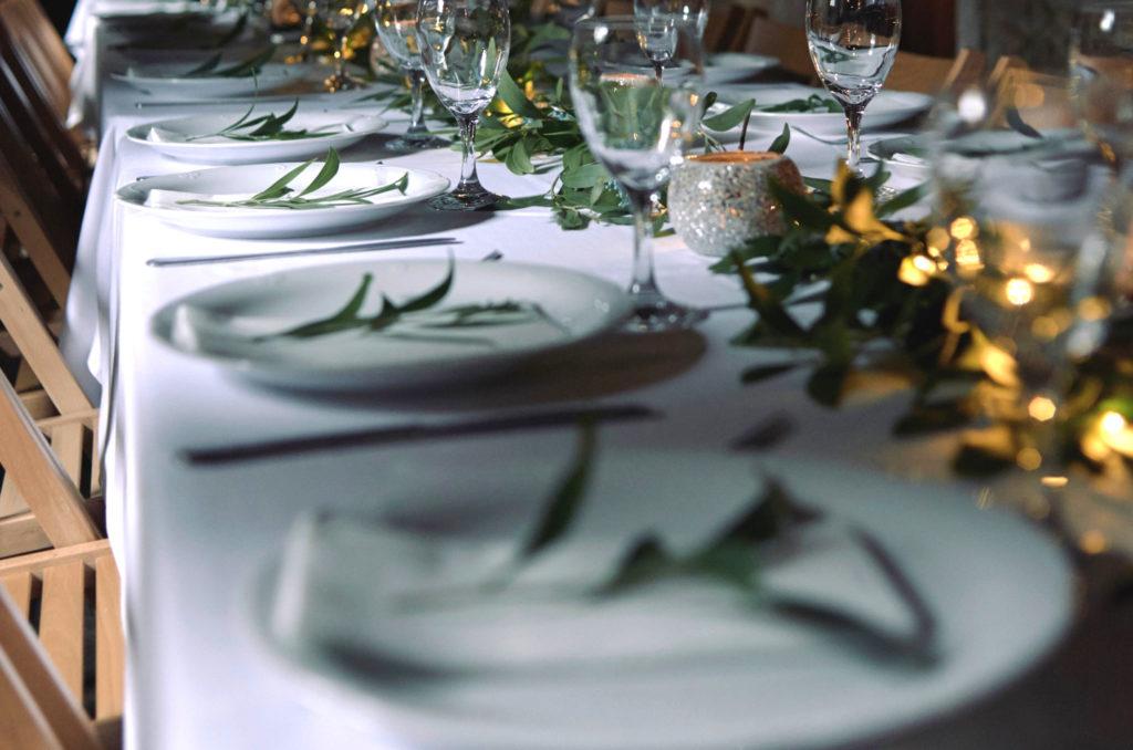 Decoración en boda de pazo trasariz
